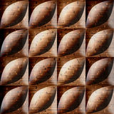 Abstract acorn pattern - seamless background - wood texture. Abstract bean pattern - seamless background - wooden surface Royalty Free Stock Images