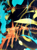 Abstract acrilic painting. Abstract colorful acrilic painting for collage and design Royalty Free Stock Image