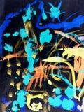 Abstract acrilic painting stylized prizma filter. Abstract colorful acrilic painting for collage and design Stock Photos