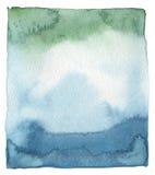 Abstract acryl en waterverf geschilderd kader Royalty-vrije Stock Foto