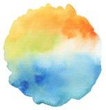 Abstract acryl en waterverf geschilderd kader Stock Afbeeldingen