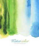 Abstract acryl en waterverf geschilderd kader Stock Afbeelding