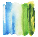 Abstract acryl en waterverf geschilderd kader Stock Foto