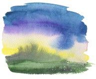 Abstract acryl en waterverf geschilderd kader Royalty-vrije Stock Afbeelding