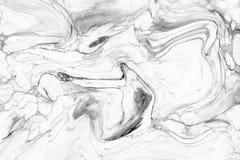 Abstract acrylgolfpatroon, Witte marmeren backgrou van de inkttextuur Royalty-vrije Stock Fotografie