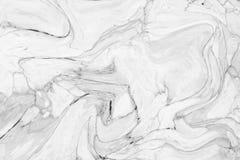 Abstract acrylgolfpatroon, Witte marmeren backgrou van de inkttextuur Stock Afbeeldingen