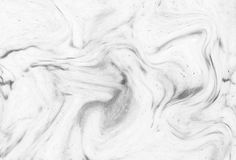 Abstract acrylgolfpatroon, Witte marmeren backgrou van de inkttextuur Royalty-vrije Stock Foto