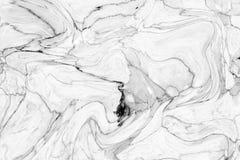 Abstract acrylgolfpatroon, Witte marmeren backgrou van de inkttextuur Stock Foto's