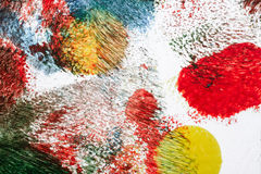 Abstract acrylic art background. Macro shot of abstract acrylic art background. Multicolor light and bright texture. Fragment of artwork. Spots of acrylic paint royalty free illustration