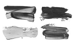 Abstract acrylic brush stroke. Isolated. Abstract acrylic black and white brush stroke. Isolated on white. Collection stock photos