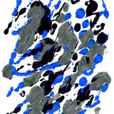 Abstract acrylic blue and black texture. Hand painted artwork. Stylish abstraction background Stock Photos