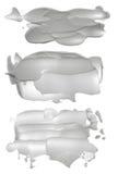 Abstract acrylic brush strokes blots. Collection of abstract acrylic brush strokes blots royalty free stock image