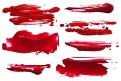 Abstract acrylic brush strokes blots. Collection of abstract acrylic brush strokes blots stock photo