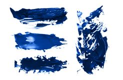 Abstract acrylic brush strokes. Collection. stock images