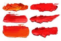 Abstract acrylic brush strokes. Royalty Free Stock Photo