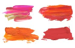 Abstract acrylic color brush stroke. Royalty Free Stock Images