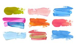 Abstract acrylic color brush stroke. Isolated. Stock Images