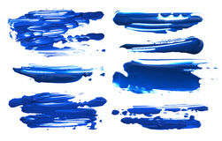Abstract acrylic color brush strokes blots. Isolated. Stock Photo