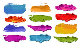 Abstract acrylic color brush strokes. Stock Image