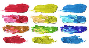 Abstract acrylic color brush strokes. Royalty Free Stock Photography