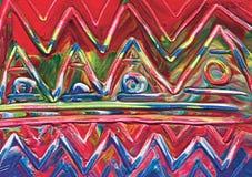 Abstract acrylic ethnic background. Stock Photo