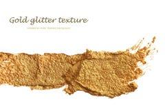 Abstract acrylic gold brush stroke. . Royalty Free Stock Photo
