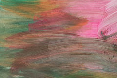 Abstract acrylic hand painted background stock photo