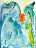 Abstract acrylic ink background. stock image