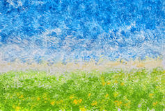 Abstract Acrylic Landscape Stock Photo