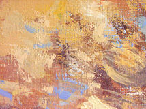 Abstract acrylic and oil painting background. This is fragment of my acrylic and oil painting on canvas.Blue, white, yellow, brown, beige colors  abstract Royalty Free Stock Photo