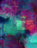 Abstract acrylic paint background. Abstract art - hand painted background Royalty Free Stock Images