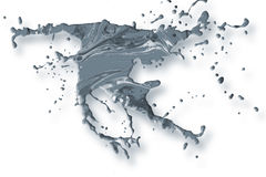 Abstract acrylic paint splash background. Abstract acrylic paint splash elements isolated on white background Stock Photography