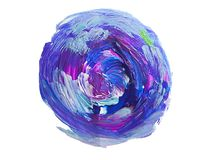 Abstract acrylic paint stain texture and watercolor splash. Hand drawing colorful acrylic splatter isolated on white. Abstract acrylic paint stain texture and Stock Image