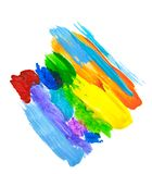 Abstract acrylic paint stain texture and watercolor splash. Hand drawing colorful acrylic splatter isolated on white. Abstract acrylic paint stain texture and Royalty Free Stock Image