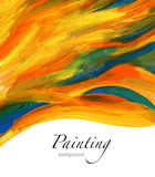 Abstract acrylic painted background Stock Images