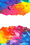 Abstract acrylic painted background isolated Stock Photography