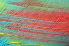 Abstract Acrylic Painted Multicolored Closeup Royalty Free Stock Image