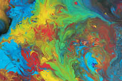 Abstract acrylic painting on canvas. Can be used as a background stock photo
