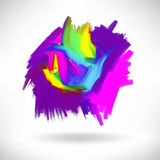 Abstract acrylic painting design element. Handmade vector illustration Royalty Free Stock Image
