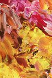 Abstract acrylic painting. An abstract acrylic painting with orange, red, and yellow tones Stock Photography
