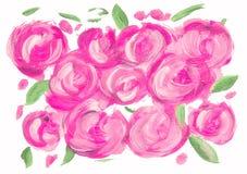 Abstract acrylic pink circles rose shape vector illustration