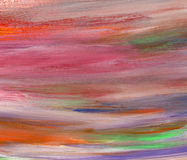 Abstract acrylic and watercolor brush strokes painted background Stock Photography
