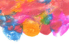 Abstract acrylic and watercolor brush strokes painted background. Texture paper Stock Images