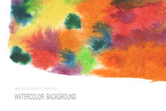 Abstract acrylic and watercolor brush strokes painted background Stock Photos