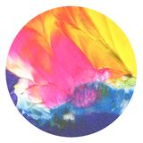 Abstract acrylic and watercolor circle painted background. Royalty Free Stock Images
