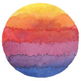 Abstract acrylic and watercolor circle painted background. Abstract rainbow acrylic and watercolor circle painted background. Texture paper stock photography