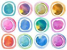 Abstract acrylic and watercolor circle painted background. Textu Royalty Free Stock Photos