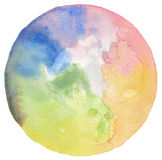 Abstract acrylic and watercolor circle painted background. Textu Stock Photography