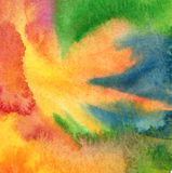 Abstract acrylic, watercolor painted background Stock Images