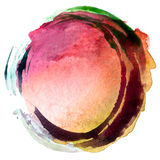 Abstract acrylic and watercolor painted background. Abstract circle acrylic and watercolor painted background Stock Photo
